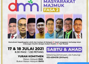 SEMINAR DAKWAH MASYARAKAT MAJMUK (DMM) FASA 2 SECARA ONLINE